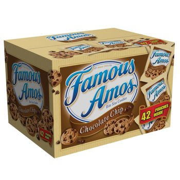 Famous Amos Cookies, Chocolate Chip, 2 oz Snack Pack, 42 - Amos Chocolate Famous Cookies