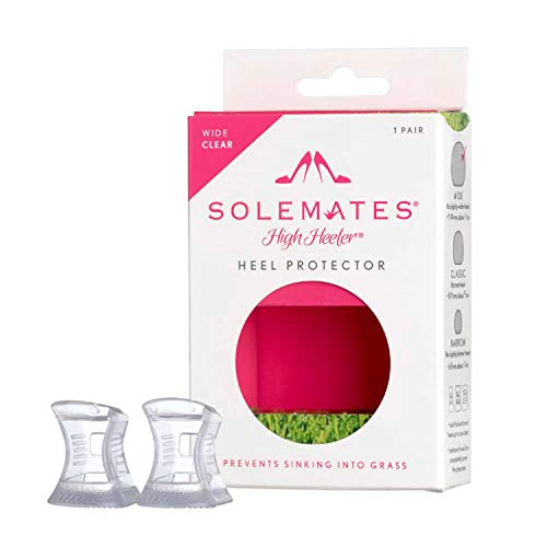 Glass Railing Cap (Solemates High Heel Protectors - Perfect for Any Wedding or Event (Clear - Wide))
