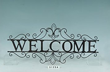 (Collectible Badges Decorative Wrought Iron Metal Welcome Wall Plaque)