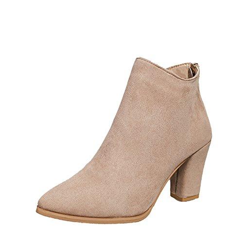 KHSKX-Grobe Betuchte Ferse Schuhe Neue Kurze Stiefel In Herbst Und Winter Koreanischen Teller Und Hochhackigen Schuhen Zurück. Thirty-five