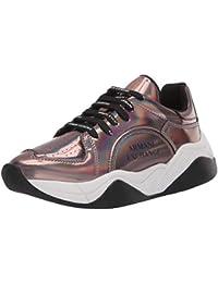 Women's Metallic Lace Up Sneaker Walking Shoe