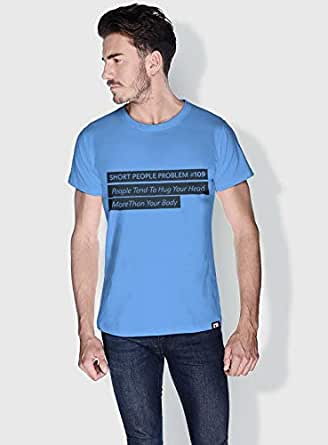 Creo Short People Problem Funny T-Shirts For Men - Xl, Blue