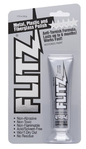 Silver Stainless Blade Sterling - Flitz BP 03511 Metal, Plastic and Fiberglass Polish Paste in 1.76-Ounce Blister Tube