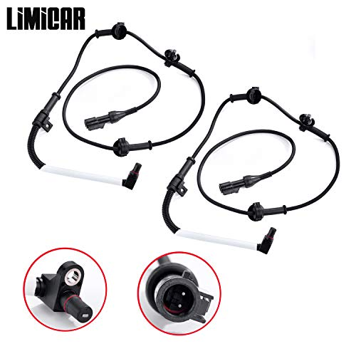 LIMICAR 2X Front Left & Right ABS Wheel Speed Sensor ALS198 Compatible w/ 1995-2001 Ford Explorer 2000-2009 Ford Ranger 2001-2002 Mazda B3000 2001-2009 Mazda B4000 1997-2001 Mercury Mountaineer 4WD