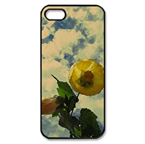 Simple Life Watercolor style Cover iPhone 5 and 5S Case (Flowers Watercolor style Cover iPhone 5 and 5S Case)