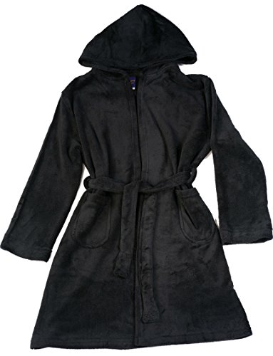 Prince of Sleep Fleece Robe Robes for Boys 75507-BLK-10-12 Black
