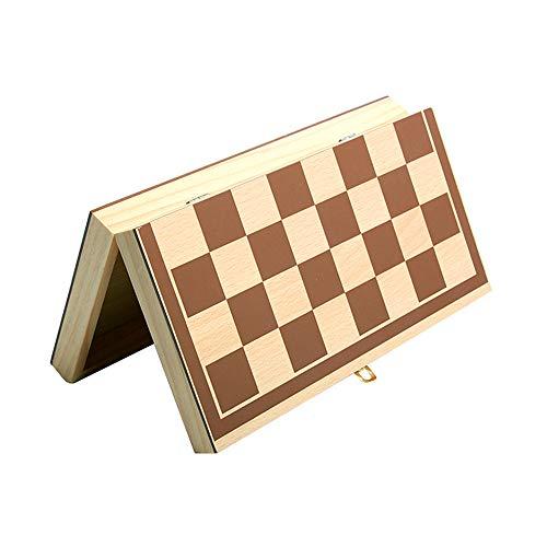 xiamenchangketongmaoyi Tablero Ajedrez Ajedrez para Ni?Os Niños Juego de ajedrez para Adultos Juego de ajedrez de Madera…