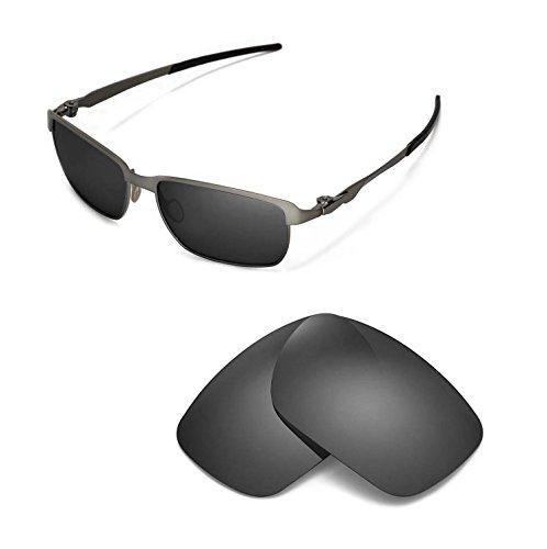 Walleva Replacement Lenses for Oakley Tinfoil - Multiple Options (Black - - Tinfoil Lenses Oakley