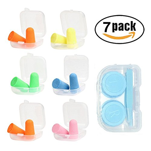 Soft Foam Earplugs, 32dB Highest NRR, Comfortable Ear Plugs for Sleeping, Snoring, Work, Travel and Loud Events by hle (Image #7)