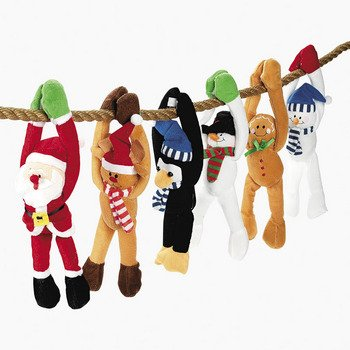 OTC Christmas Hanging Plush Characters Holiday Stuffed Toys