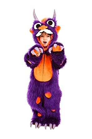 kids toddler morris the purple monster halloween costume - Baby Monster Halloween Costumes