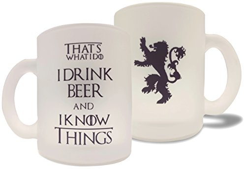 USAPrime Game of Thrones Inspired Beer Mug - I Drink Beer & I Know Things