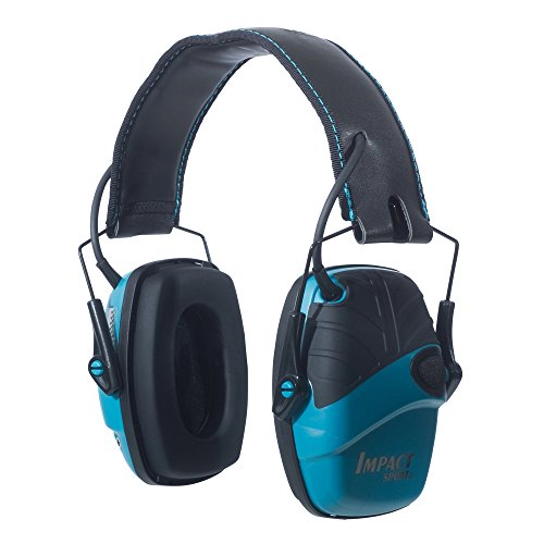 Howard Leight by Honeywell Impact Sport Sound Amplification Electronic Shooting Earmuff, Teal (R-02521) (Storage Outdoor Target)