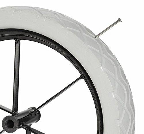 L 101,5 mm HAEMMERLIN Roue increvable pour brouette Racing PF69 Jante m/étal a rayons Moyeu /Ø 14 mm /Ø 400 mm