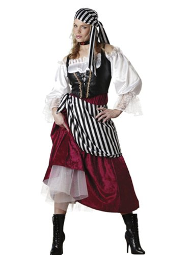 Pirate's Wench Costume - Large - Dress Size (Ideas For Gypsy Halloween Costume)
