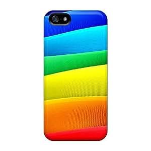 Excellent Design Colored Layers Phone Case For Iphone 5/5s Premium Tpu Case