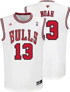 bf900c50e14 Joakim Noah Jersey: adidas Revolution 30 White Replica #13 Chicago Bulls  Jersey
