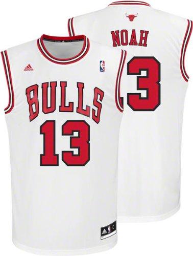 d7dedf72d NBA adidas Chicago Bulls Joakim Noah Revolution 30 Replica Performance  Jersey - White (X-