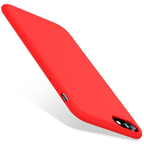 TORRAS [Love Series] iPhone 8 Case/iPhone 7 Case, Liquid Silicone Gel Rubber Case Soft Microfiber Cloth Lining Cushion Compatible iPhone 8 2017/ iPhone 7 2016, Red