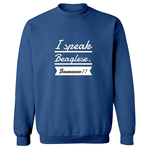 (Stuch Strength Beagles Mug - I Speak Beaglese - Funny Canine Gift - Sweatshirt Royal Blue)