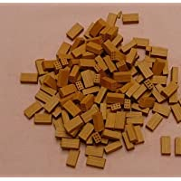 100 ladrillos CERÁMICA miniatura para maquetas. LARGO 3cm.