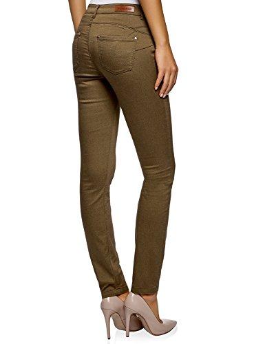Ultra Donna Slim 6800n Verde Oodji Jeans Fit Basic TwOBTd