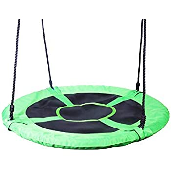 40 INCH Round Playground Swing - Outdoor Swing Swingset Accessories BackyardUltra Strong - Green - Toddler, Kids Safe & Easy Mounting to Playhouse, Playset, Trees or Existing Playground