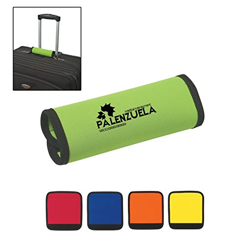 Luggage Spotter Super Grabber Neoprene Handle Wrap - 100 Qty - $1.95 Each - PROMOTIONAL PRODUCT/BULK/BRANDED with YOUR LOGO/GREAT GIFT or TRADE SHOW ()