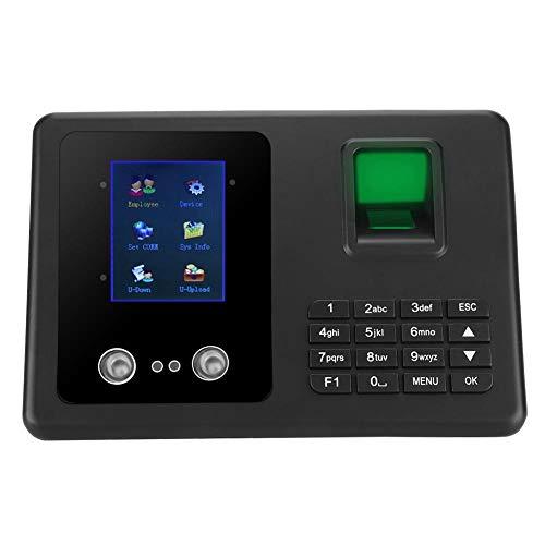 Intelligent Biometric Fingerprint Password Attendance Machine Employee Checking-in Recorder Fingerprint Attendance Machine, LCD Display DC Office Time Attendance Clock (US Plug)