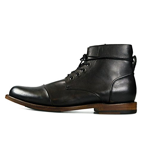 Sutro Footwear Men's Leather Chukka Lace Up Boots Handcrafted, Hand Stitched With Goodyear Welted Sole - Alder Black - Alder Footwear