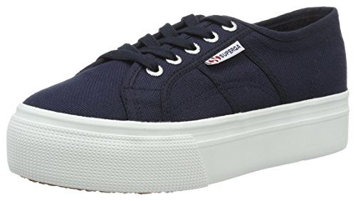And Chaussures F43 Linea Superga Down Femme De Bleu navy Eu fwhite Gymnastique 2790acotw Up qUxtxZ16
