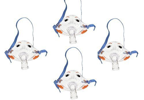 Pari Respiratory Bubbles the Fish II Pediatric Mask (4-Pack)