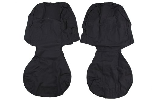Seat Covers Poly Cotton Charcoal (2011-2012 Dodge Ram Charcoal Grey Seat Covers-Front 40/20/40 Bench Mopar OEM)