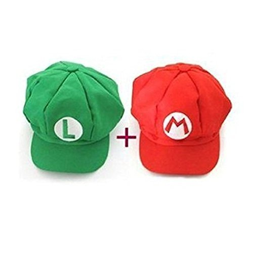 DJSR Imports Super Mario role play Bros Luigi Costume Hat Unisex (Mario And Luigi Costumes Kids)
