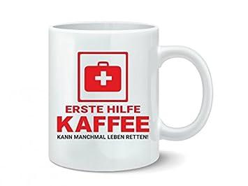 ERSTE HILFE - Tasse mit Motiv, bedruckte Fun Tasse mit Sprüchen oder ...