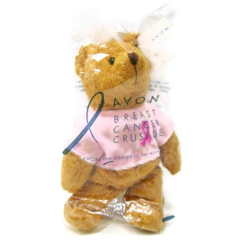 Mini Bean Bag Pink Ribbon Teddy Bear by Avon Breast Cancer Crusade
