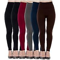 Forro polar Leggings para mujer Cintura Alta 6unidades, elástica y Adelgazamiento