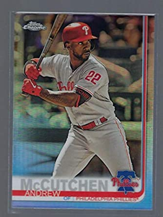 the latest 1a644 56af9 Amazon.com: 2019 Topps Chrome Refractor #77 Andrew McCutchen ...