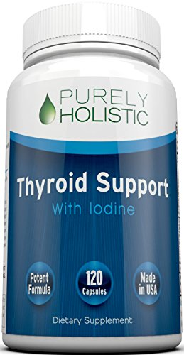 Thyroid Support Supplement 120 Capsules ★ 100% MONEY BACK GUARANTEE ★ 50% More Than Other Brands – Natural Thyroid Supplement With Iodine – Energy, Metabolism & Focus Formula, Made in USA, Non GMO