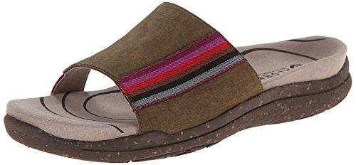 Acorn Sandals (Acorn Women's Wearabout Slide Dress Sandal, Brown/Plum Stripe, 8 M US)
