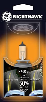 GE H7-55NH/BP Nighthawk Automotive Replacement Bulb, (Pack of 1)