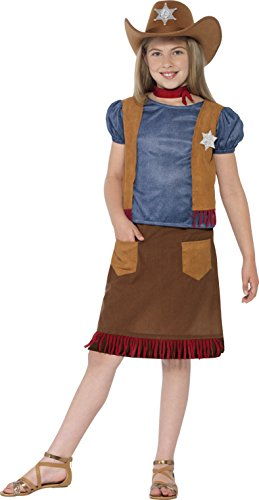Smiffys Belle Costume (Large Children's Western Belle Cowgirl Fancy Dress Costume.)