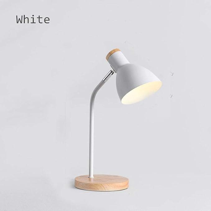 PSSYXT Lámpara de mesa Lámpara de mesa de madera Sombra de