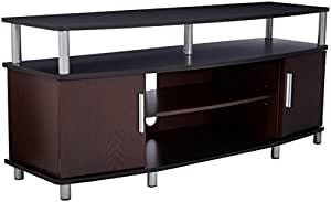 Ameriwood Home Carson TV Stand for TVs up to 50 Inches Wide (Cherry/Black)