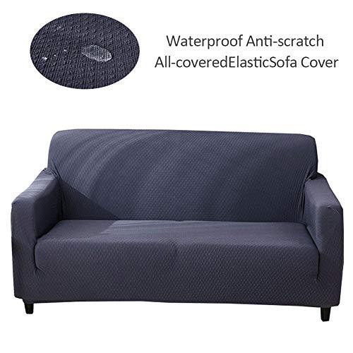 blue--net Polyester Spandex Fabric Sofa Slipcover, Waterproo