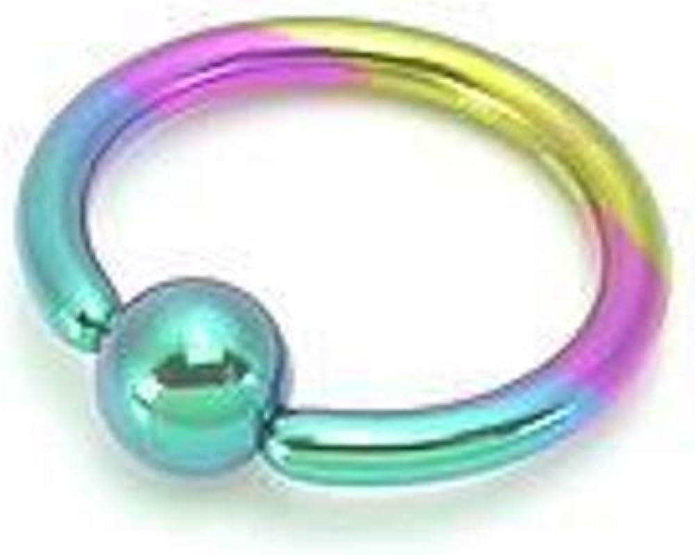 Painful Pleasures 12g Titanium Captive Bead Ring with Titanium Ball