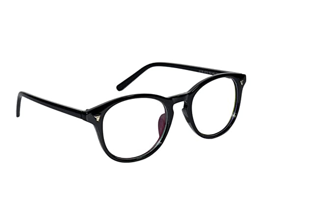 767f05263 Image Unavailable. Image not available for. Colour: Peter Jones Stylish Black  Round Optical Frame