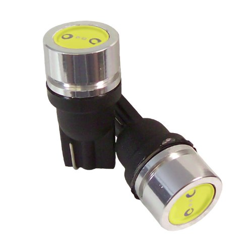 CIPA 93186 Ultra White 1 Watt Powerful Bullet LED 194 Strobe Bulb - Pack of - Bulbs Strobe