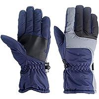 Oddalsail-MX OUTAD Guantes de esquí Impermeables y Resistentes a la Nieve Guantes de Escalada para Hombres Azul Marino M