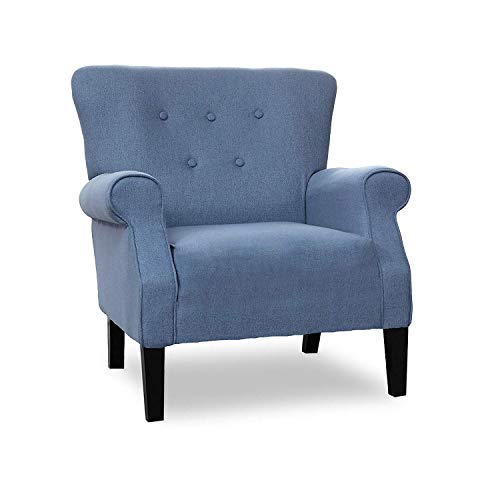 Patio Festival Accent Chair Mid Century Upholstered Roy Arm Single Sofa Modern Comfy Furniture Sofa for Living Room,Club,Office,Bedroom